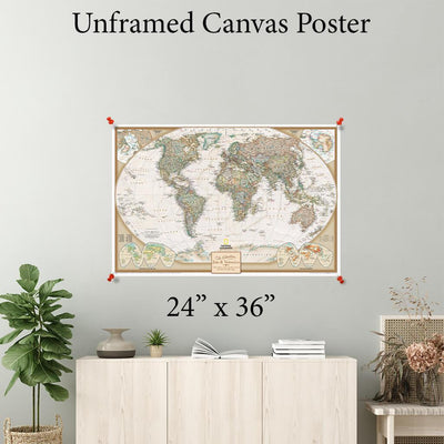Executive World Canvas Poster 24 x 36