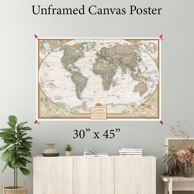 Executive World Canvas Poster 30 x 45
