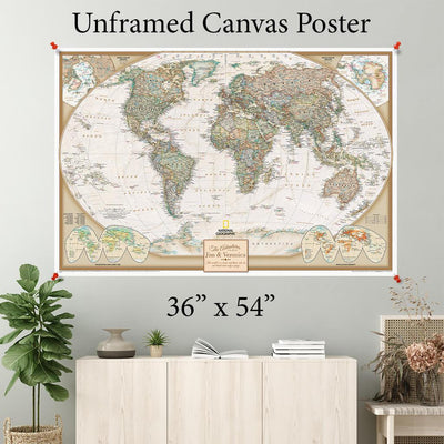 Executive World Canvas Poster 36 x 54