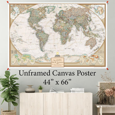 Executive World Canvas Poster 44 x 66