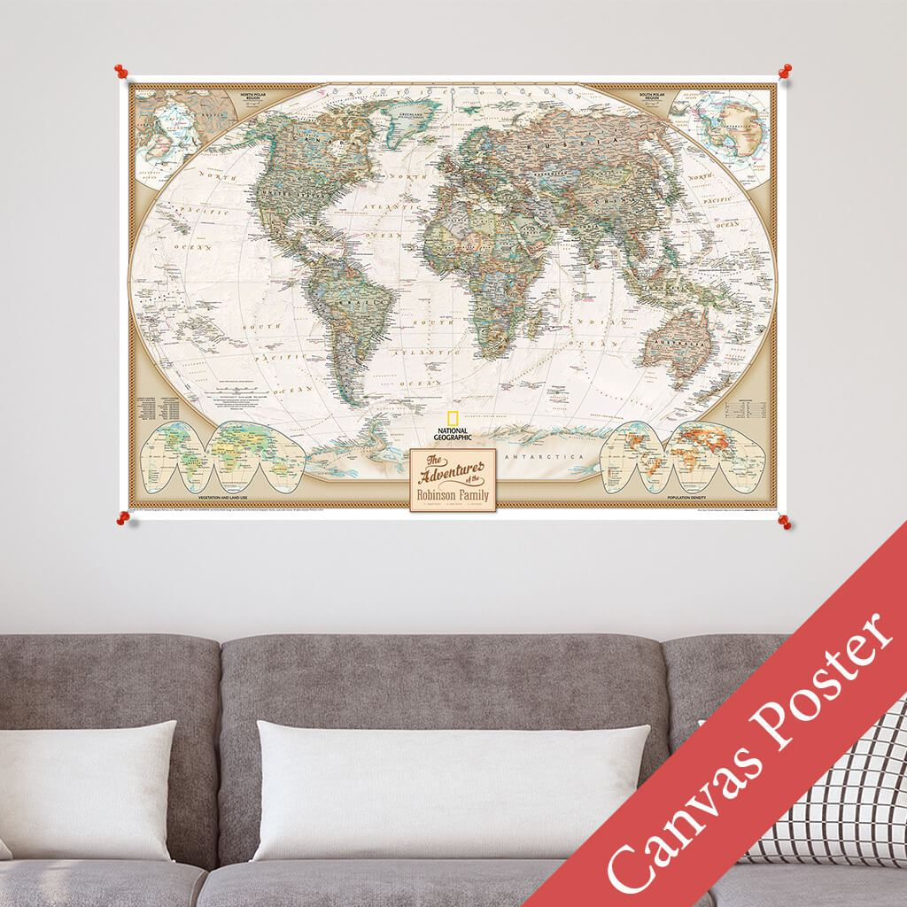 Executive World Canvas Poster