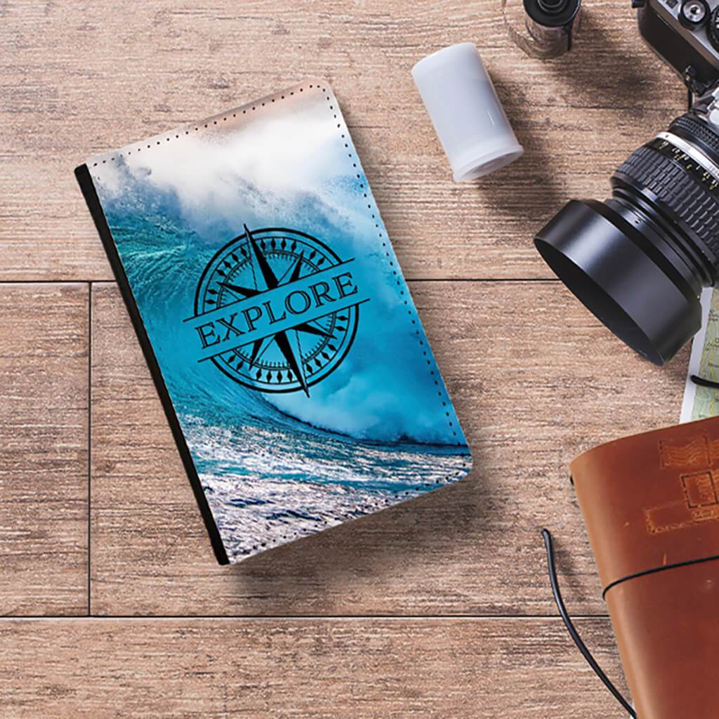 Explore Passport Cover (Ocean Wave)