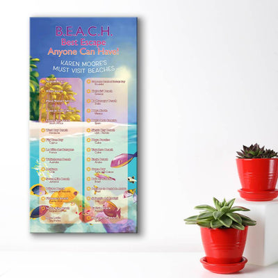 Create your own bucket list - Beach Scene Background
