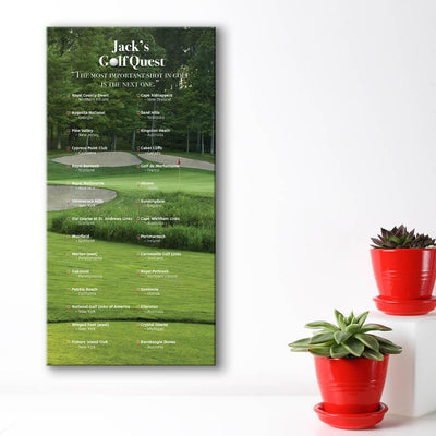 Create your own bucket list - golf course background