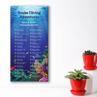 Create your own bucket list - underwater scene background