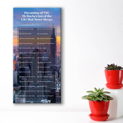 Create your own bucket list - cityscape background