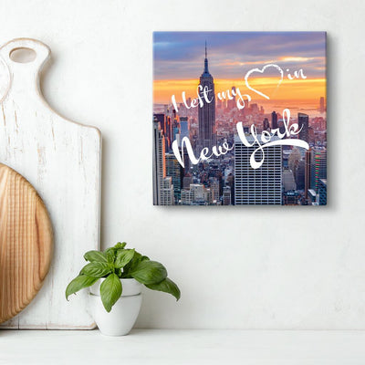 Canvas Gallery Style Art - I Left My Heart In New York