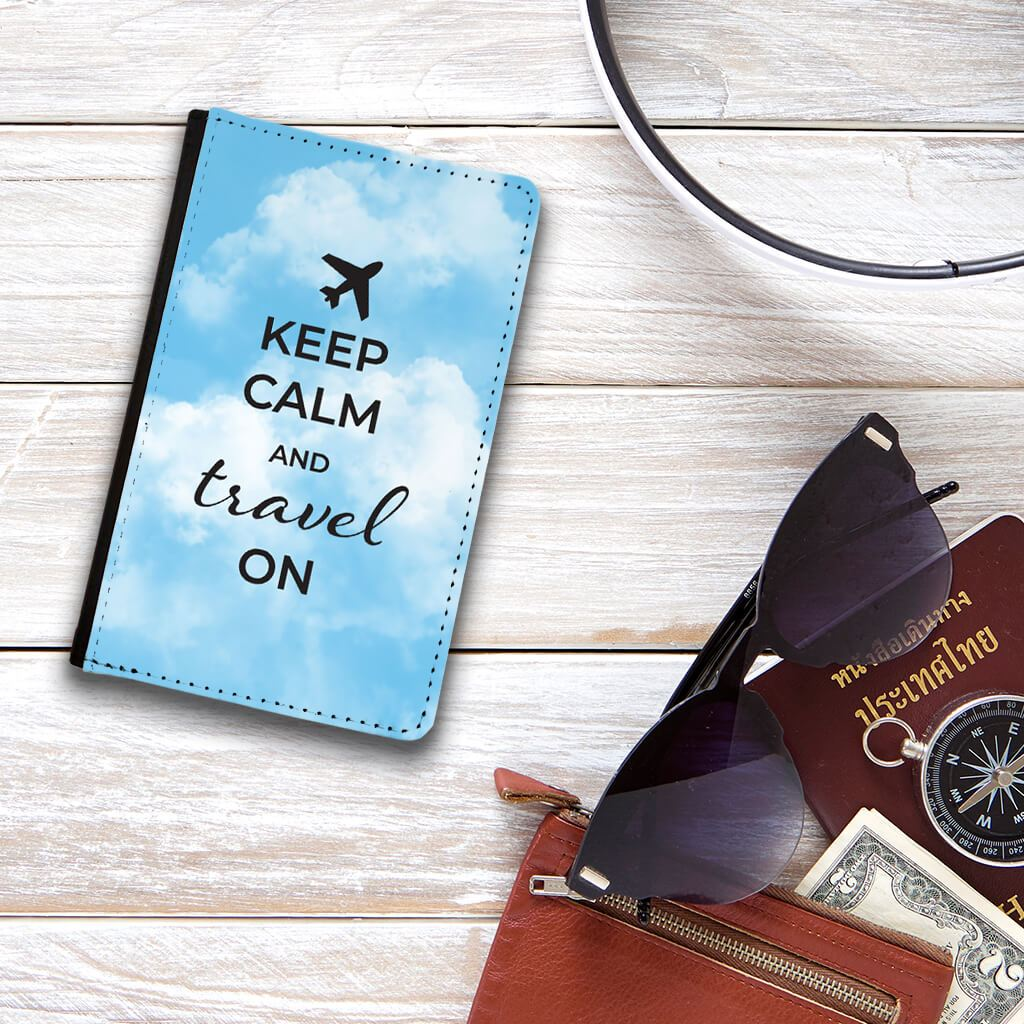 Keep Calm and Travel on Passport Protector