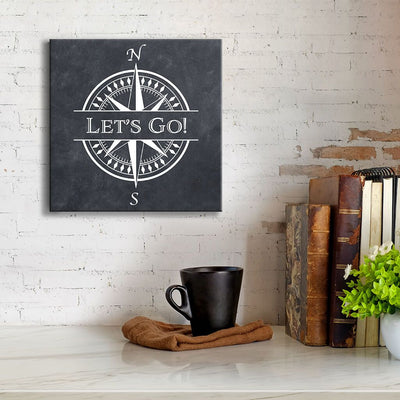 Travel Phrases - Compass Wall Art - 6 Travel Words Available