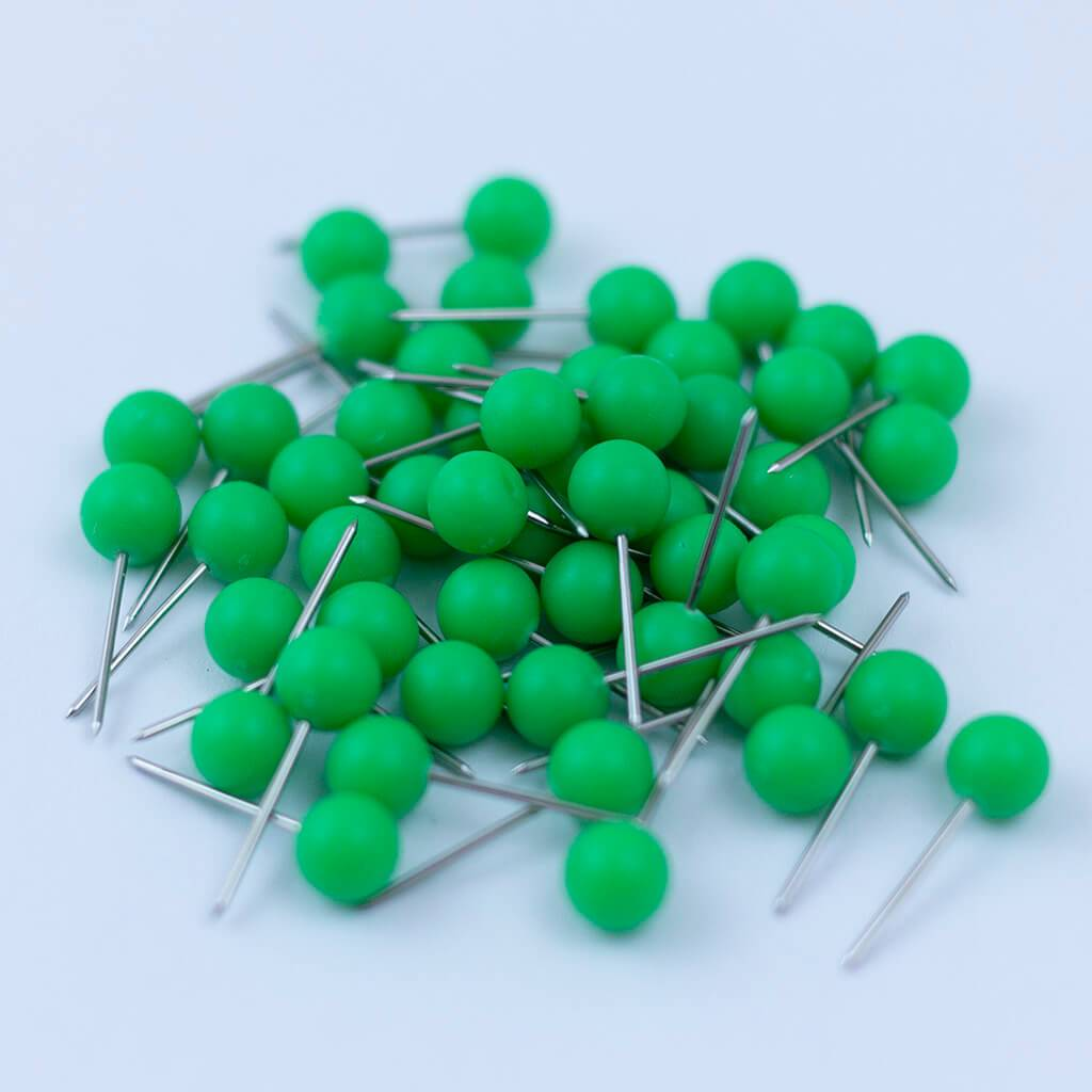 Light Green - Push Pin Travel Map Pins - Pack of 50