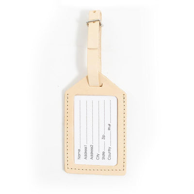 Natural Leather Luggage Tag