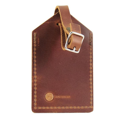 Saddle Premium Leather Luggage Tag Back