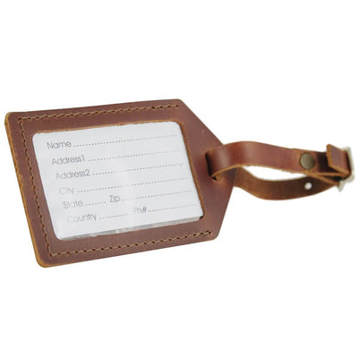 Saddle Leather Luggage Tag