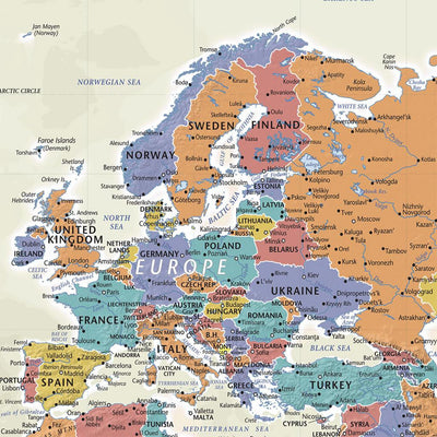 Closeup of Europe