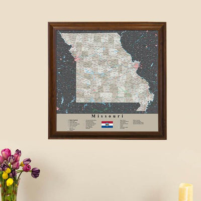 Earth Toned Missouri State Map main picture