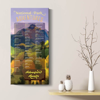US National Parks Bucket List Gallery Wrapped Style Main Image