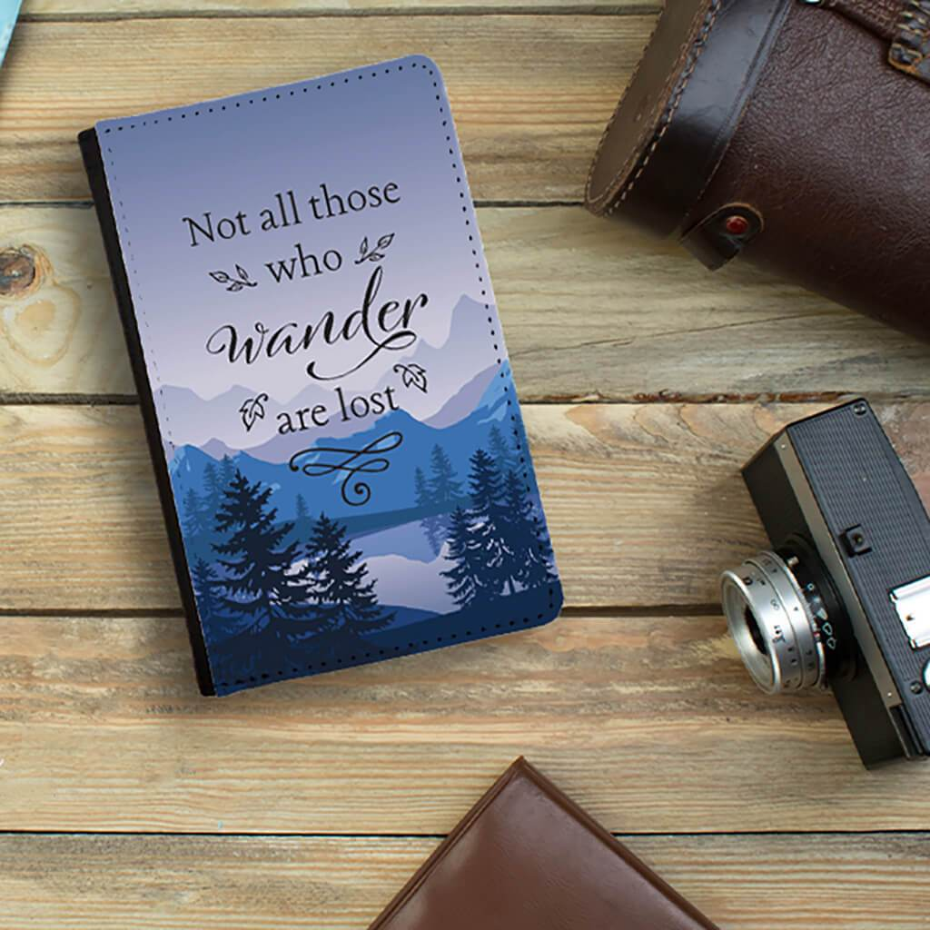 Blue Mountains Not all who wander are lost passport holder