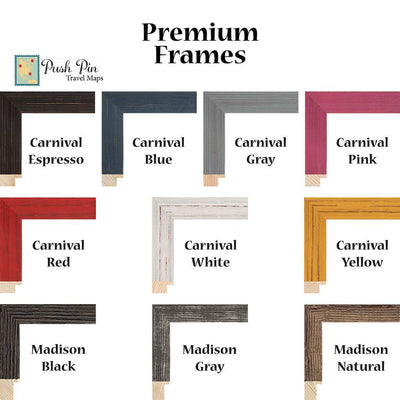 Premium Frame Options for Bucket List Trackers