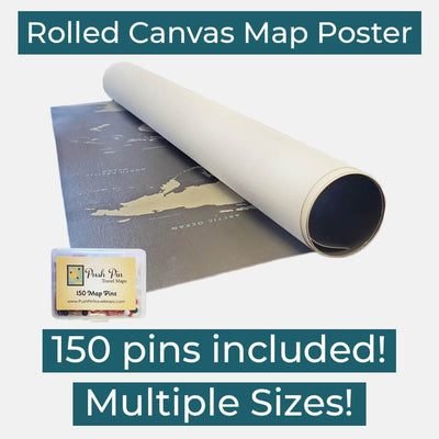 Rolled Canvas Poster - With Pins!