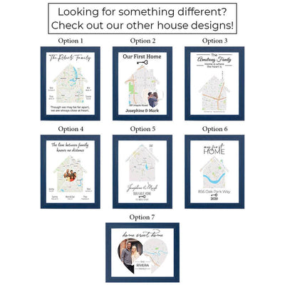 Canvas Map Art Print Layout Options