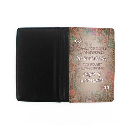 Front and Back of Best Stories Found In Passport - Passport Holder
