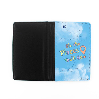 "Front and back of ""Oh the places you'll go"" passport holder"