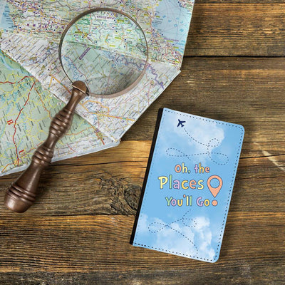 """Oh the places you'll go"" passport holder"
