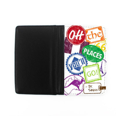 "Front and Back of ""Oh, the Places You'll Go!"" – Signs Passport Cover"