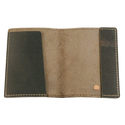 Charcoal Passport Holder Open