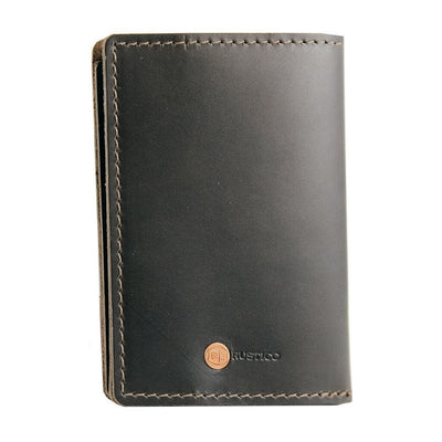 Charcoal Passport Holder Back