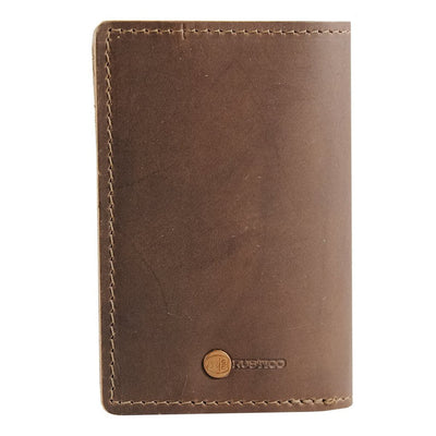 Back Dark Brown Leather Passport Holder