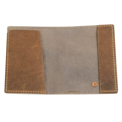 Leather Passport Holder Open