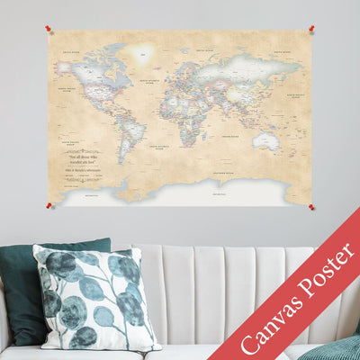 Pastel World Canvas Poster