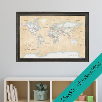 Canvas - Perfectly Pastel World Travel Pin Map