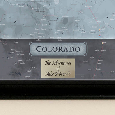 Push Pin Travel Maps Colorado Slate State Map Plaque Location