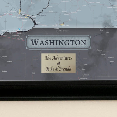 Push Pin Travel Maps Washington State Slate Map with Pins Plaque Location