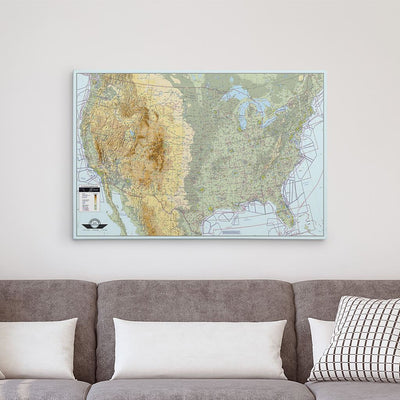 24x36 Gallery Wrapped Canvas VFR USA Pilot's Map