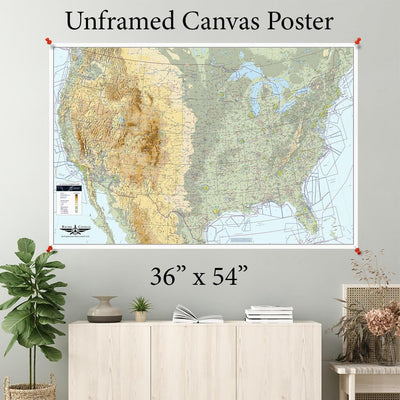 USA VFR Planning Map Canvas Poster 36 x 54