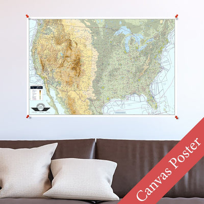 USA VFR Planning Map Canvas Poster