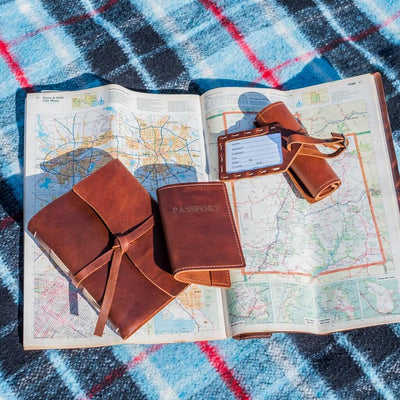 Leather Passport Holder and Journal