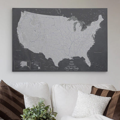 30x45 Gallery Wrapped Canvas Stormy Dreams USA Map