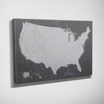 Gallery Wrapped Canvas Stormy Dreams USA Map Side View