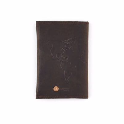 Dark Brown Leather Travel Wallet