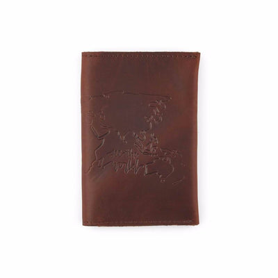 Saddle Leather Travel Wallet Back