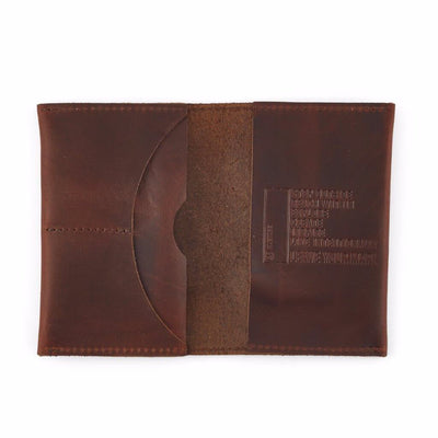 Open Leather Travel Wallet