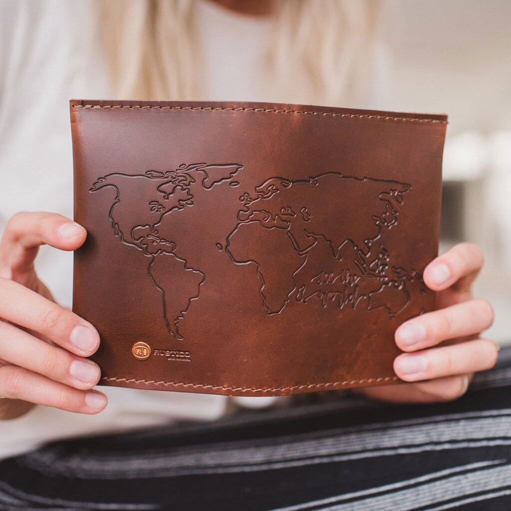 Leather Travel Wallet Saddle