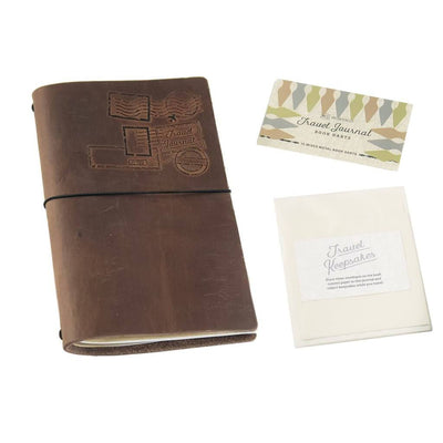 Premium Travel Journal Dark Brown