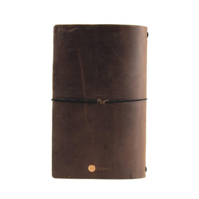 Travel Journal Back - Dark Brown