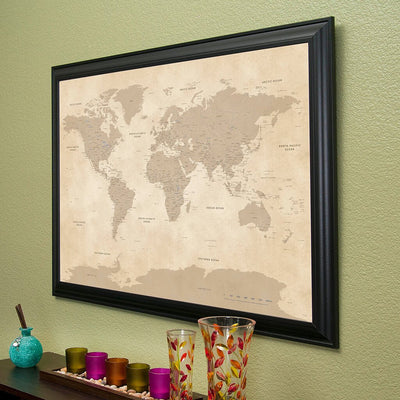 Vintage World with Black Frame Side View