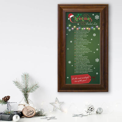 Christmas Checklist in Brown Frame